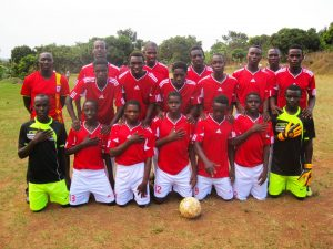 The Destiny United football team