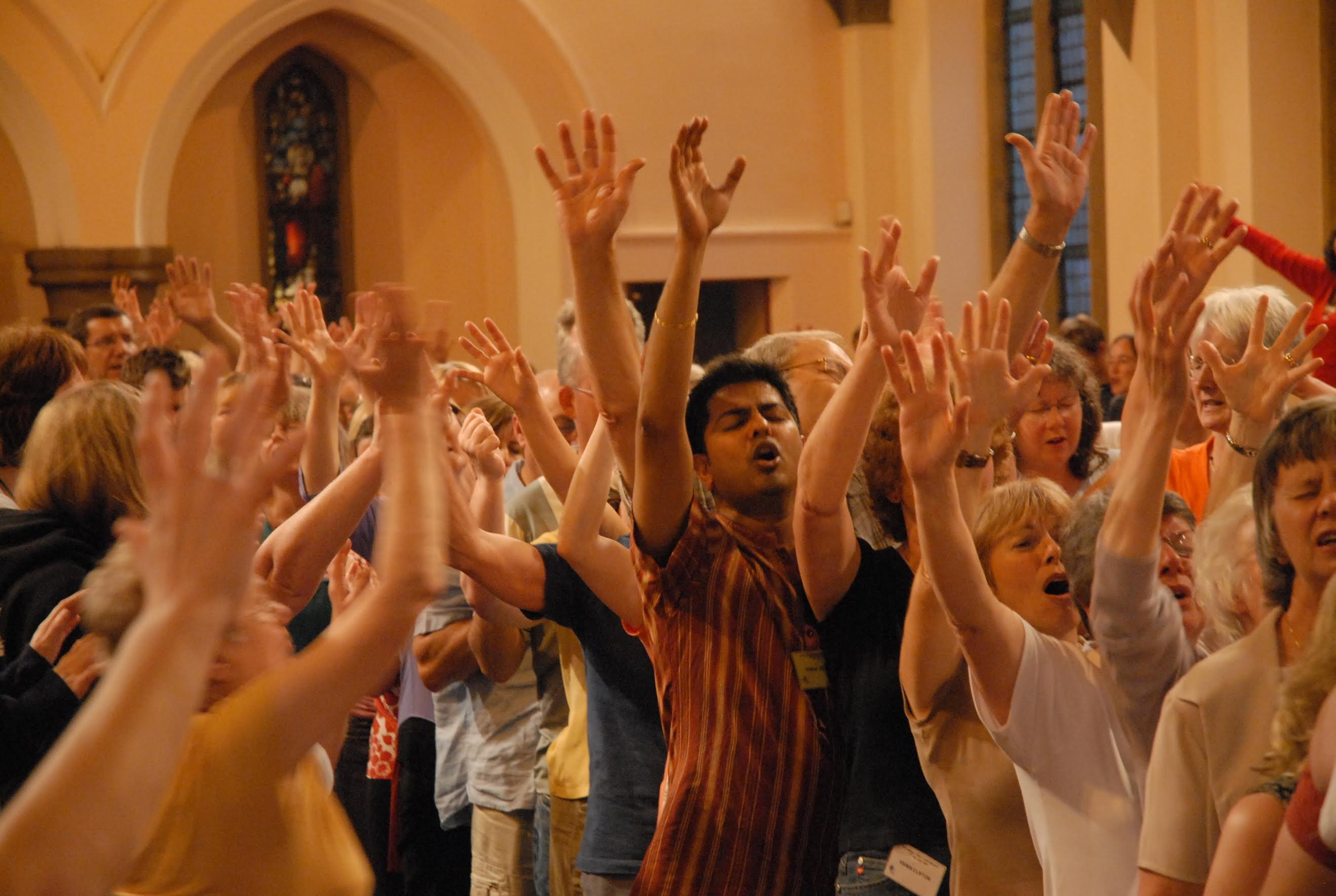 Worshippers at an NDE conference